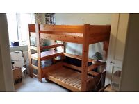 STOMPA PINE BUNK BED with sofa bed and desk