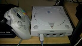 Sega Dreamcast with VGA cable for best picture