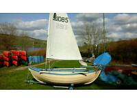 SAILING DINGHY 12 FOOT DOUBLE ENDED DORY STYLE