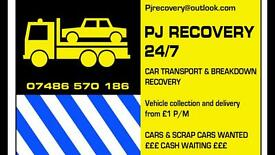 ALL CARS WANTED & 24/7 RECOVERY
