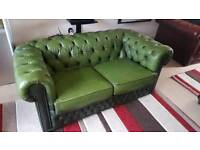 Chesterfield Two Seater Sofa Green
