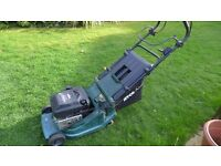 """Atco Admiral rotary 16"""" mowers, one running and one for spares."""