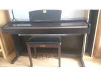 Mahogany Yamaha Clavinova CLP-320 & Matching Stool For Sale