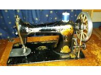 antique singer sewing machine with original cabinet
