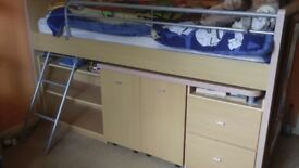 Single Cabin Bed Midsleeper