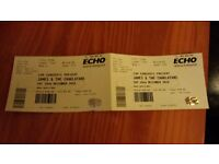 James/Charlatans tickets x2