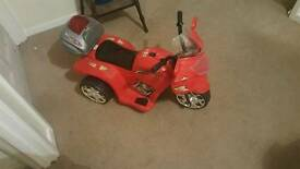Childrens motorised bike