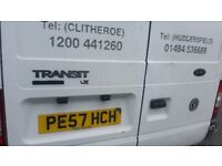 white FORD TRANSIT 57 plate high roof medium wheel base double referigearted van