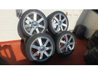 18 inch alloy wheels and tyres