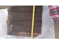 Double roman roof tiles. Roughly 420mm long by 360mm wide
