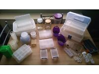 Job lot of craft storage boxes, tubs etc, ideal for card making, sewing etc