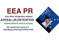 IMMIGRATION,APPEAL ,HUMAN RIGHTS , JR,DETENTION,BAIL,EEA APPLICATION Free assessment and advice