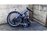 For Sale Raleigh Evo 7 Folding Bike,Olive Green,7 Gears Ideal Commuter