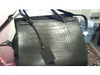 LADY'S handbag brand new dark green shoulder strap and compartments cost £16 a.ccept £15