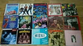 25 x rockabilly vinyl LP's - tommy sands / dave travis / hotfoot gale /arousers