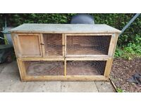 Large two storey rabbit hutch.