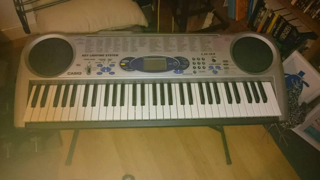 Casio LK 43 keyboard, 5 octave