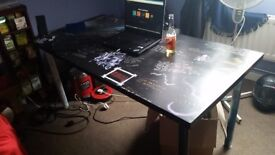 Oryginal, hand decorated Ikea table.