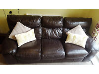 dfs real leather sofa set