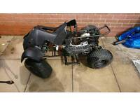 Quad bike frame and parts