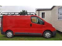 Vauxhall vivaro £3800 ono rhino rack and ladder, built in sat nav clean inside and out