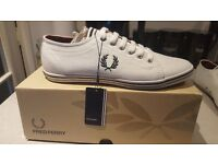 Fred Perry Mens Classics Kingston White Sz 6