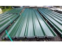 brand new 16ft long juniper green polyester coated box profile roofing sheets 32/1000