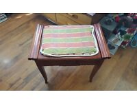 Vintage Retro Piano Stool Dressing Table Stool Side Table Storage Foot Stool