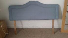 Blue/grey Double headboard