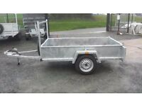 HEAVY DUTY STRONG BUILDED TRAILERS WITH FRONT LADDER RACK SPARE WHEEL LED LIGHTS