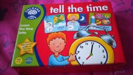 "Educational ""Tell the time"" games. Orchard brand games."