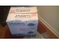 2 x kam direct drive decks with mixer brand new