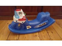 Blue Little Tikes Police Bike Rocker with noises/flashing lights