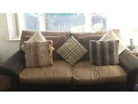 2 large scs 2seater sofas for sale brown