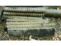 Concrete rope edgings