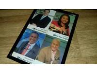 Framed ITV autographed news readers