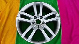 "1 X 20"" GENUINE AUDI Q7 ALLOY WHEEL 5 TWIN SPOKES 4L0601025M 5X130 ET60 9J REMANUFACTURED"