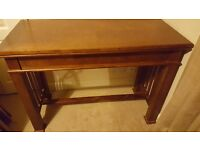 solid wood console table with roulette/blackjack underneath