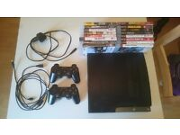 Playstation 3 Slim - 16 games - 2 controllers