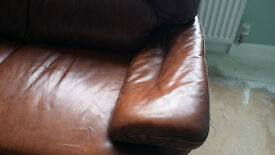 Leather sofa - Brown Good condition.