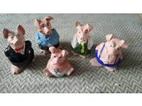 Full set of Wade England Natwest pigs
