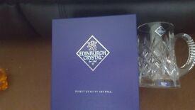 Edinburgh crystal beer tankard