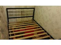 DOUBLE BED FRAME METAL WORTH £500 TODAY £145