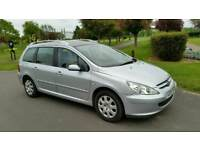 DIESEL + 1 YEAR MOT + 7 SEATER + GLASS PANAROMIC ROOF + PEUGEOT 307 DIESEL 1997cc + HPI CLEAR+2 KEYS
