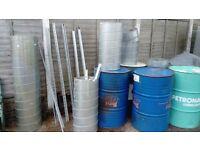 5 oil drums. Air. Ducting. Steel frames