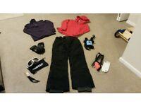 Ski Equipment (goggles, gloves, tops, ski trousers)