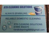 RELIABLE DOMESTIC CLEANING FROM RTB CLEANING SOLUTIONS