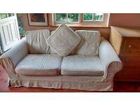 Stunning cream embroidered 3 seater sofa with spare cushion