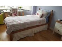 Single bed with trundle bed and two matresses