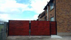 Metal framed fencing custom-made